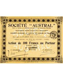 Sté ''AUSTRAL'' pour le Travail, le Commerce des Bois et les Industries Dérivées