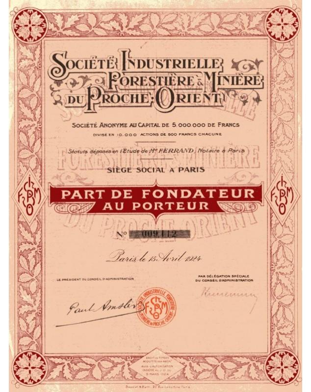 Sté Industrielle Forestière & Minière du Proche-Orient