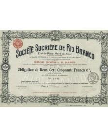 Sté Sucrière de Rio Branco