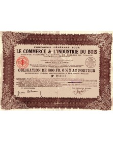 Cie Générale pour le Commerce et l'Industrie du Bois