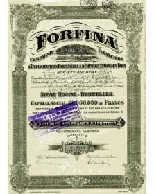 FORFINA - Cie Financière d'Exploitations Forestières & d'Imprégnation des Bois