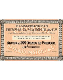 Etablissements Reynaud , Matout & Cie