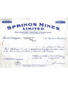 Springs Mines Ltd