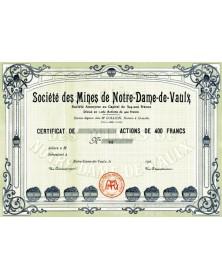 Sté des Mines de Notre-Dame-De-Vaulx