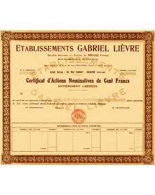 Ets Gabriel Lièvre