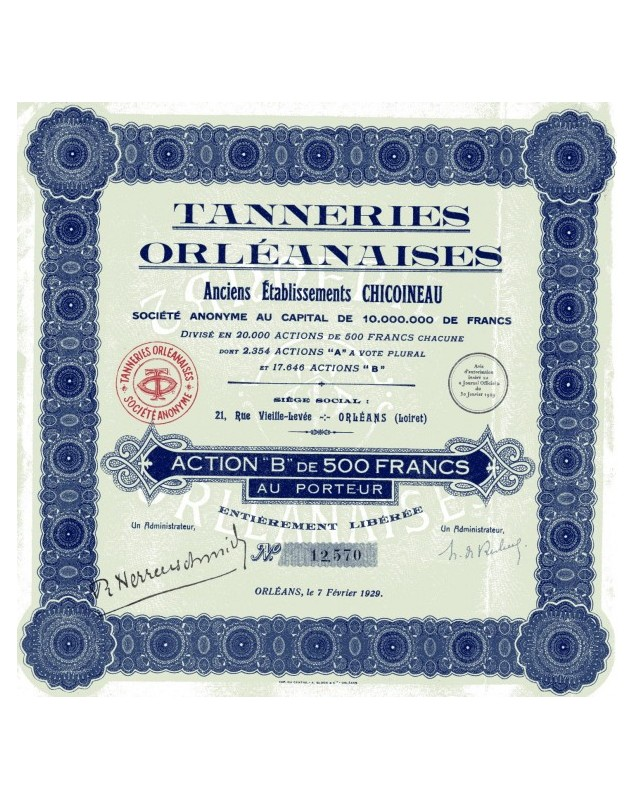 Tanneries Orléannaises - Anciens Ets Chicoineau