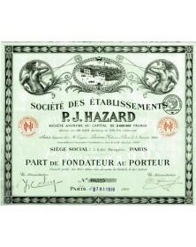 Sté des Ets P.J. Hazard