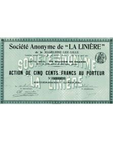 S.A. de ''La Linière'' de la Madeleine-Lez-Lille