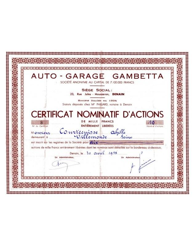 Auto-Garage Gambetta
