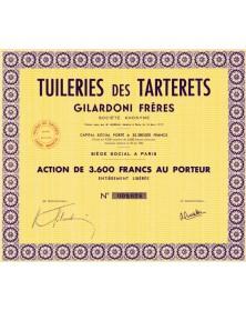 Tuileries des Tarterêts Gilardoni Frères