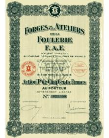 Forges & Ateliers de la Foulerie F.A.F