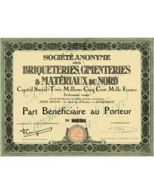 Sté des Briqueteries, Cimenteries & Matériaux du Nord