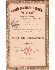 Sté Foncière et Hôtelière de Vichy