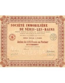 Sté Immobilière de Néris-les-Bains