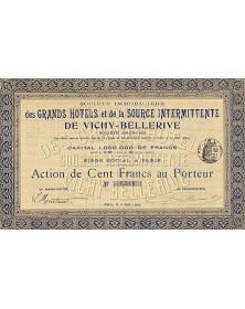 Sté Immobilière des Grands Hotels et de la Source Intermittente de Vichy-Bellerive