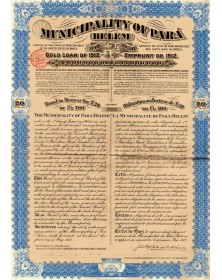 Municipality of Para  (Belem) -Emprunt Or 5%