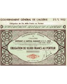 Gouvernement Général de l'Algérie - Emprunt 3,5%