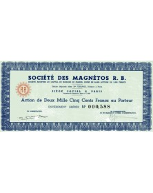 Sté des Magnétos R.B.