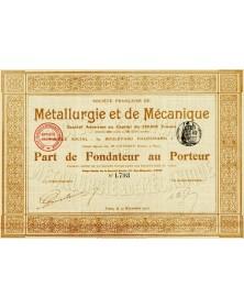 Sté Française de Métallurgie et de Mécanique