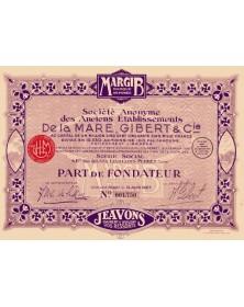 S.A. des Anciens Ets De La Mare, Gibert & Cie, Marque Déposée MARGIB