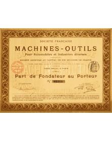 Sté Française de Machines-Outils pour Automobiles et Industries diverses