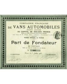 Cie Française de Vans Automobiles