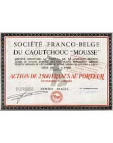 """Sté Franco-Belge du Caoutchouc -Mousse-"""""""""""