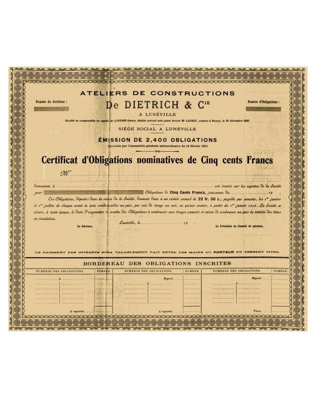 Ateliers de Constructions De Dietrich & Cie