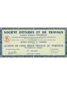 Sté d'Etudes et de Travaux (Ancienne Entreprise Medebielle)