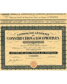 Cie Générale de Construction de Locomotives Batignolles-Chatillon
