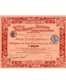 Sté des Sels Gemmes & Houilles de la Russie Méridionale. 1900