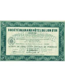 Sté du Grand Hôtel du Lion d'Or