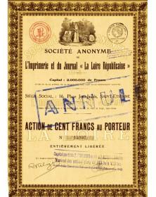 Sté de l'Imprimerie et du Journal ''La Loire Républicaine''