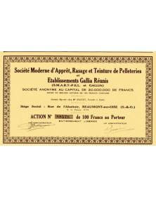 Sté Moderne d'Apprêt, Rasage et Teinture de Pelleteries et Ets Gallia Réunis