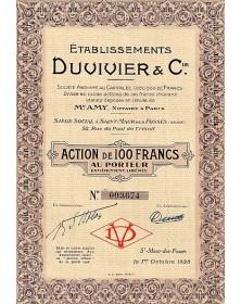 Ets Duvivier & Cie