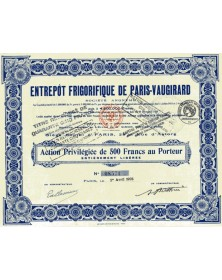 Entrepôt Frigorifique de Paris-Vaugirard
