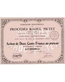 Cold - Compagnie Industrielle des Procédés Raoul Pictet