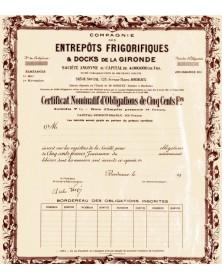 Cie des Entrepôts Frigorifiques & Docks de la Gironde