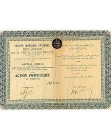 Sté Impériale Ottomane d'Eclairage par le Gaz