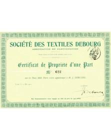 Sté des Textiles DEBOURG