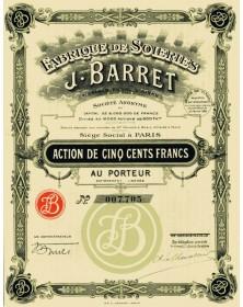 Fabrique de Soieries J. BARRET