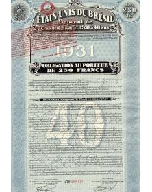 Etats-Unis du Brésil, Emprunt de consolidation 5%  1931