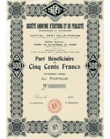 SA d'Editions et de Publicité Economiques et Financières