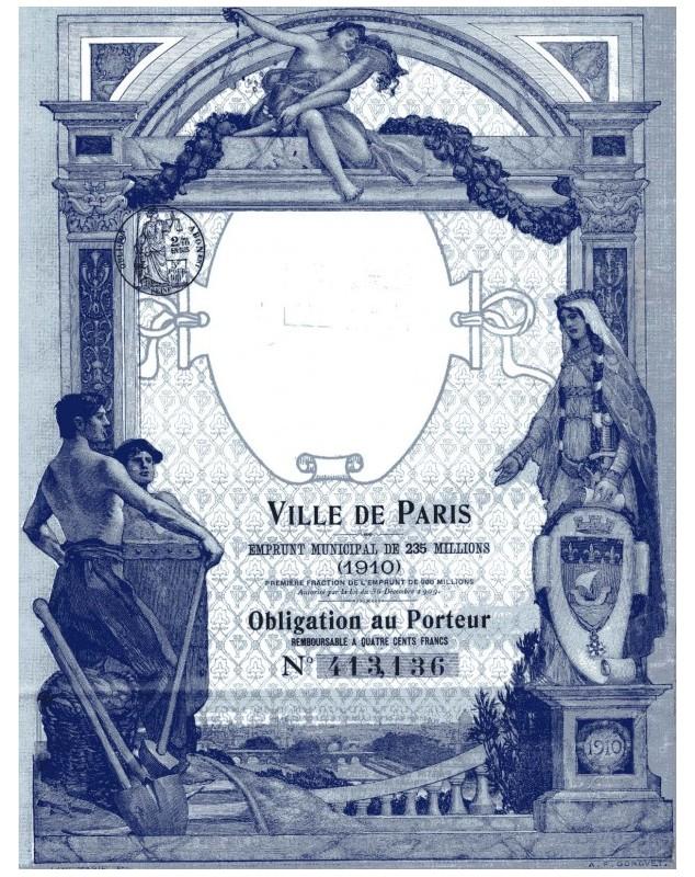 City of Paris - 235 Million Francs Municipal Loan 1910