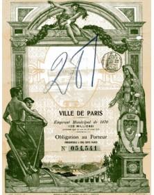 Ville de Paris - Emprunt Municipal de 1876