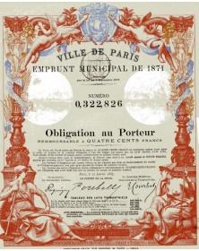 Ville de Paris-Emprunt Municipal de 1871
