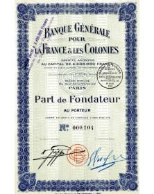 Banque Générale pour la France & les Colonies