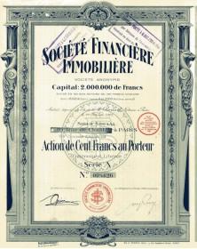 Sté Financière Immobilière rue de Chantilly