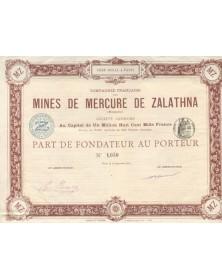 Mines de Mercure de ZALATHNA