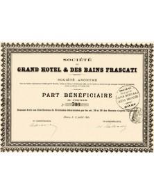 Sté du Grand Hôtel & des Bains Frascati